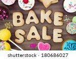 bake sale cookies | Shutterstock . vector #180686027