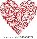 vector heart | Shutterstock .eps vector #180688697
