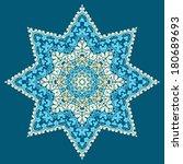 circle star ornament ... | Shutterstock .eps vector #180689693