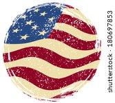 american grunge flag. raster... | Shutterstock . vector #180697853