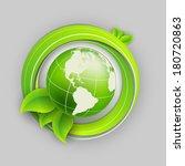 floral environmental vector... | Shutterstock .eps vector #180720863