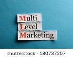 mlm   multi level marketing on...   Shutterstock . vector #180737207