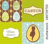 easter set for scrapbooking | Shutterstock .eps vector #180739703