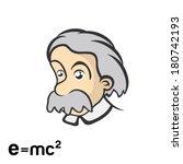 einstein character cartoon | Shutterstock .eps vector #180742193