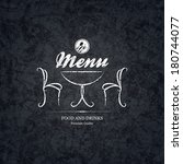 restaurant menu design | Shutterstock .eps vector #180744077