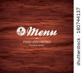 restaurant menu design | Shutterstock .eps vector #180744137