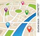 city map | Shutterstock .eps vector #180748757