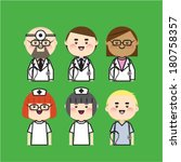 doctor and nurse icon | Shutterstock .eps vector #180758357