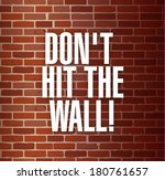 dont hit the the wall concept... | Shutterstock . vector #180761657