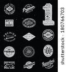vintage label vector set | Shutterstock .eps vector #180766703