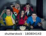 shocked friends from different... | Shutterstock . vector #180804143