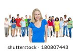 group of multi ethnic diverse... | Shutterstock . vector #180807443