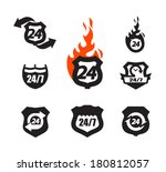 hour icons | Shutterstock .eps vector #180812057