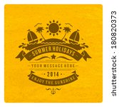 summer vector typography.... | Shutterstock .eps vector #180820373