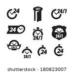 hour icons | Shutterstock .eps vector #180823007