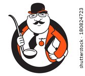 diplomatic kitchen branding... | Shutterstock . vector #180824723