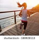 healthy lifestyle sports woman... | Shutterstock . vector #180828113