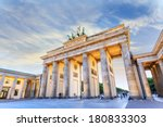Stock photo brandenburg gate of berlin germany 180833303