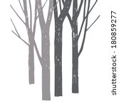silhouettes of trees  | Shutterstock .eps vector #180859277