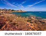 pink granite coast  brittany ... | Shutterstock . vector #180878357