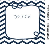 Navy Blue And White Rope With...
