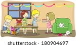 cartoon kids and children boy... | Shutterstock .eps vector #180904697