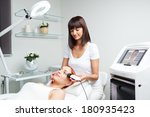 picture of pretty beautician... | Shutterstock . vector #180935423