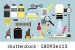 darkroom equipment   flat... | Shutterstock .eps vector #180936113