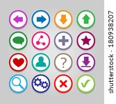 set of colorful vector icons...   Shutterstock .eps vector #180938207