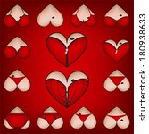 set of heart symbols  with... | Shutterstock .eps vector #180938633