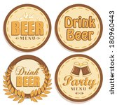 four brown icons with different ... | Shutterstock .eps vector #180960443