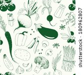 seamless pattern with vegetables | Shutterstock .eps vector #180962807