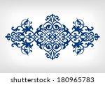 vector vintage baroque... | Shutterstock .eps vector #180965783