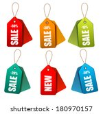 set of colorrful sale tags.... | Shutterstock . vector #180970157