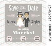 wedding invitation | Shutterstock .eps vector #180970427
