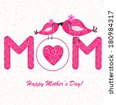 happy mother's day background... | Shutterstock .eps vector #180984317