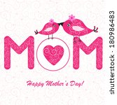 happy mother's day background... | Shutterstock . vector #180986483