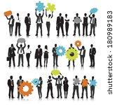 vector of business people... | Shutterstock .eps vector #180989183
