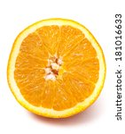 one slice of big orange... | Shutterstock . vector #181016633
