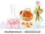 Rose Water  Rose Petals Liqueur