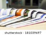 magazine spread in the office ...   Shutterstock . vector #181039697