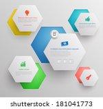 hexagons group modern  template....
