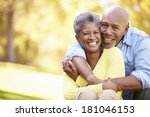 senior couple relaxing in... | Shutterstock . vector #181046153