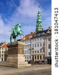Small photo of The equestrian statue of Absalon was designed by Vilhelm Bissen on Hojjbro Square in Copenhagen