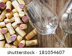 detail of wine glasses and... | Shutterstock . vector #181054607
