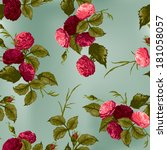 seamless floral pattern with of ... | Shutterstock .eps vector #181058057