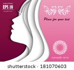 fashion girl with beautiful hair | Shutterstock .eps vector #181070603