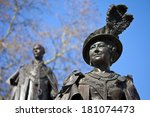 statues of elizabeth the queen... | Shutterstock . vector #181074473