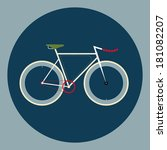 vector illustration fixed gear... | Shutterstock .eps vector #181082207