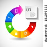 business infographics circle... | Shutterstock .eps vector #181095833